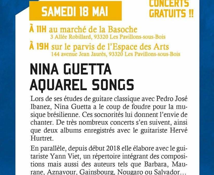Concert Jazz Festival of Pavillon sous Bois saturday the 18.05.19. French Song