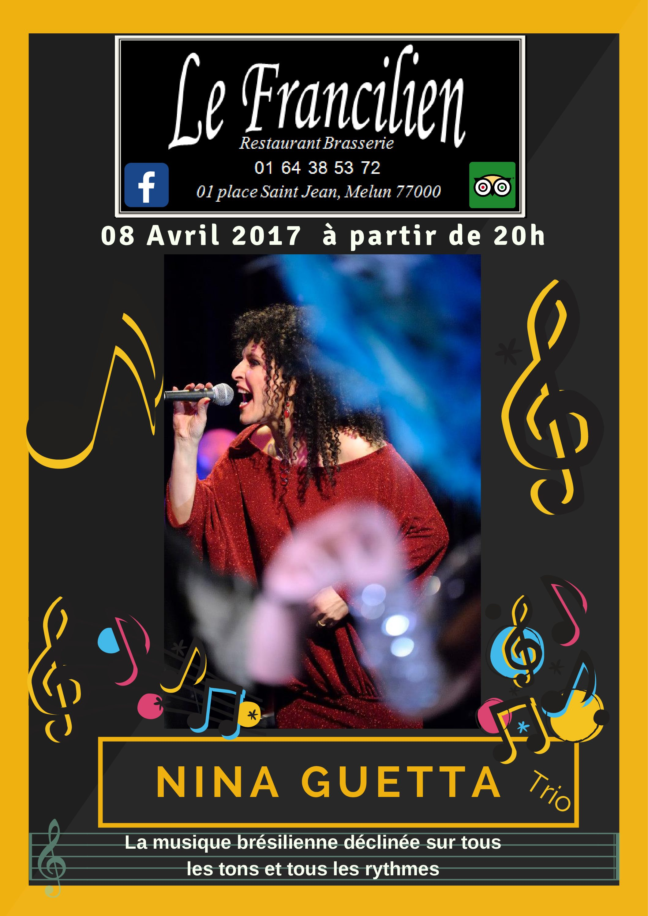 Concert at the Francilien in Melun saturday the 8.04.17. Brazilian Song